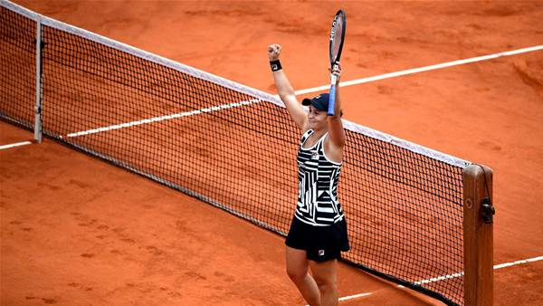 Barty: 'I'm a bit speechless'