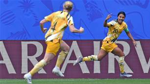 Kerr on the mark but Matildas off pace