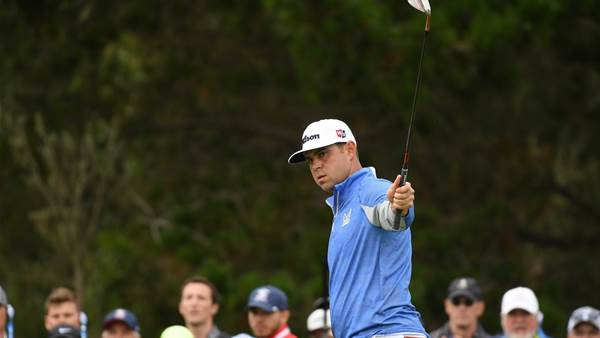"""I came here to win,"" says US Open leader Woodland"