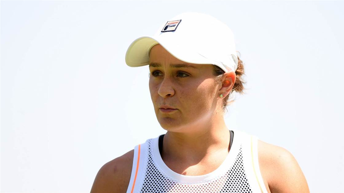 Barty brushes off Wimbledon 'favourite' label