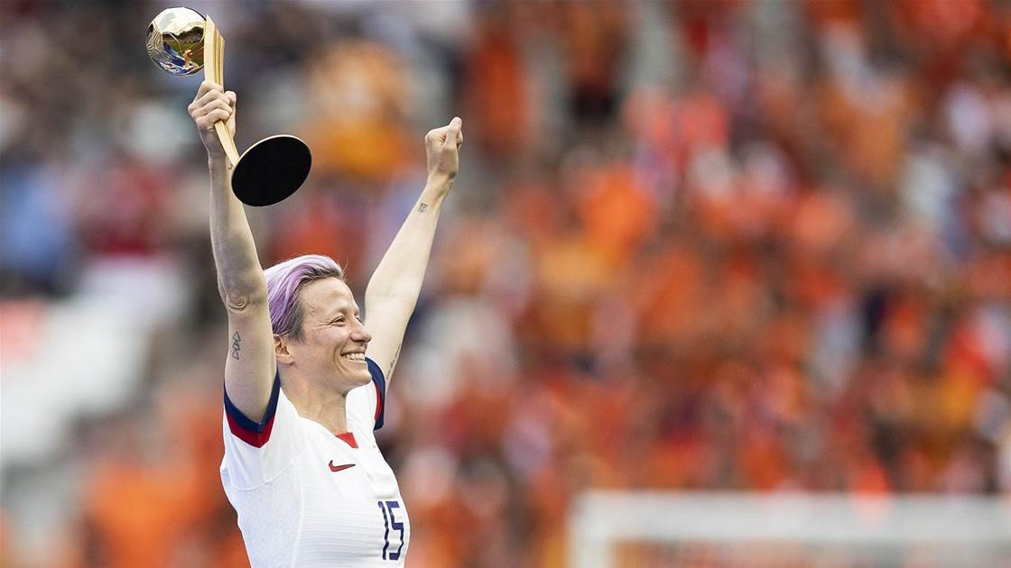 Star Rapinoe rallies cry for women's pay