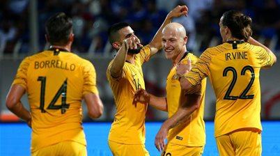 Mooy cruises in Socceroos' green and gold
