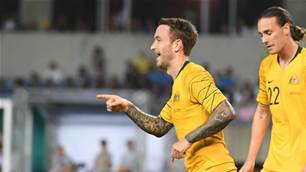 Ruthless Socceroos hit Taiwan for seven