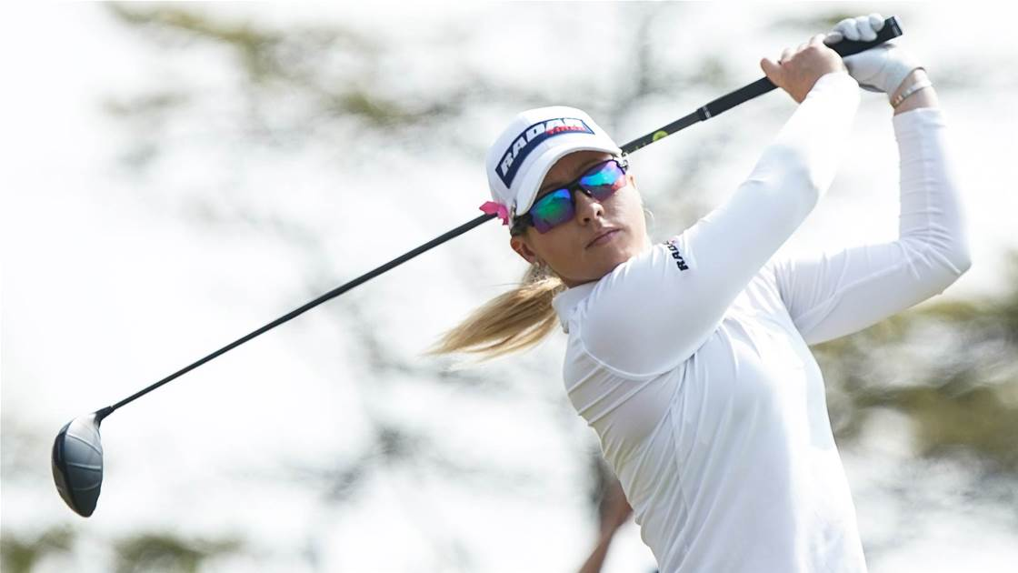 Jodi Ewart Shadoff sets pace at Royal Adelaide