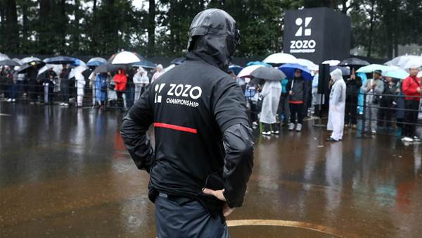 Wet weather puts Zozo Championship on hold