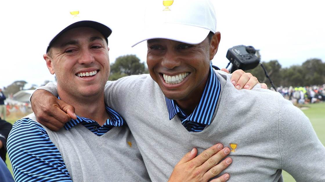 Americans off the canvas in late Presidents Cup rally