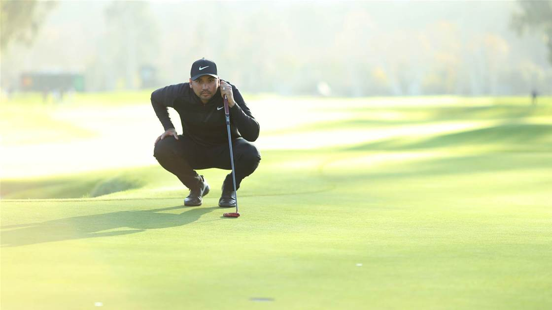 Day warming up putter with Masters looming