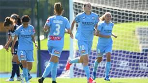 Which is better? Watch van Egmond score another screamer in Melbourne Derby