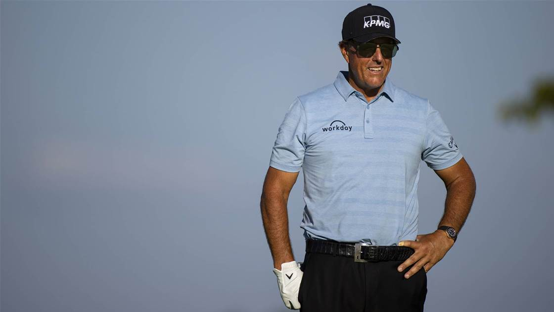 Mickelson defies Aussies on Champions Tour