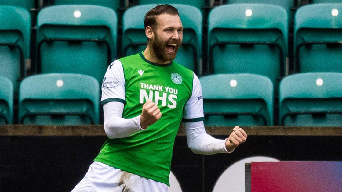 'He's back to his best...' - Socceroo Boyle bags a brace for Hibs