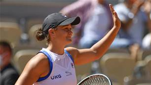 Barty headlines three 'stirring' Aussie wins at French Open
