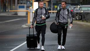 Vic A-League players arrive in NSW