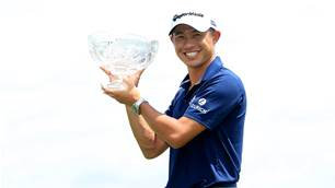 Morikawa hangs on for playoff victory