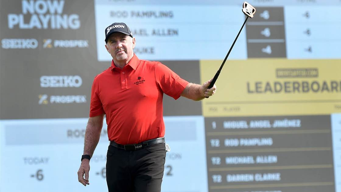 Pampling shoots 63 to contend on Champions Tour