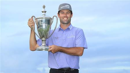 Streb nearly holes out in play-off victory