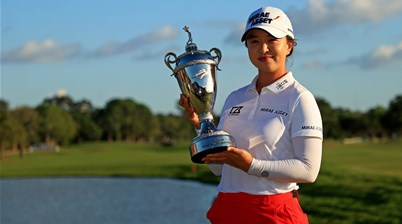 Kim closes in on top ranking with 12th LPGA Tour title