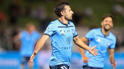 'A striker needs to score...' - Barbarouses strikes twice in Sydney win