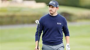 Cantlay ties course record at Pebble Beach