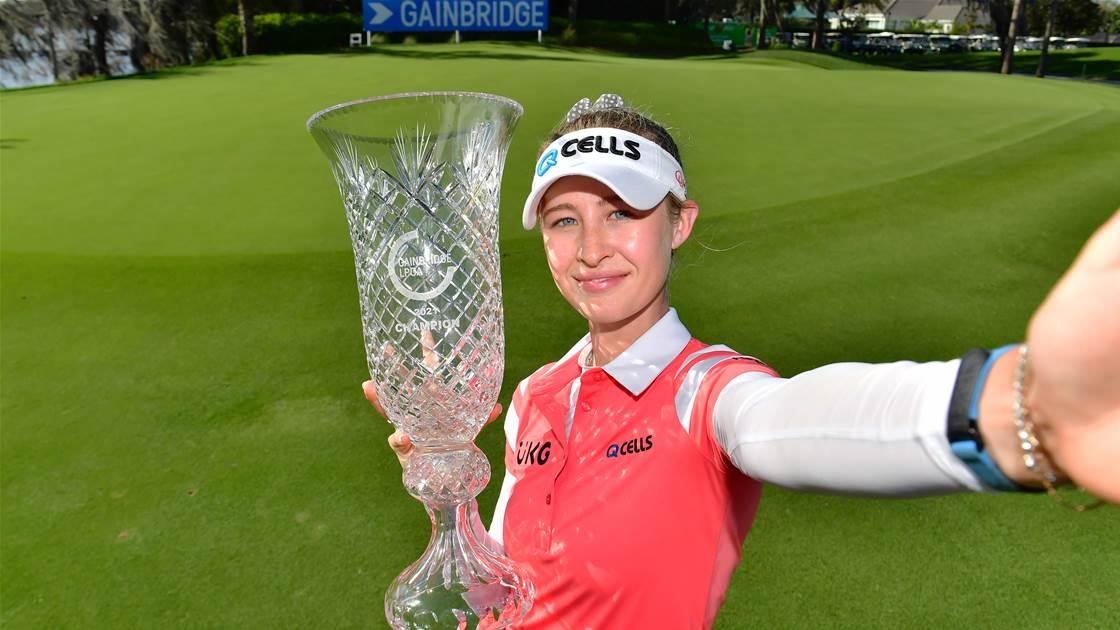 Nelly Korda wins Gainbridge LPGA, Kemp T5th