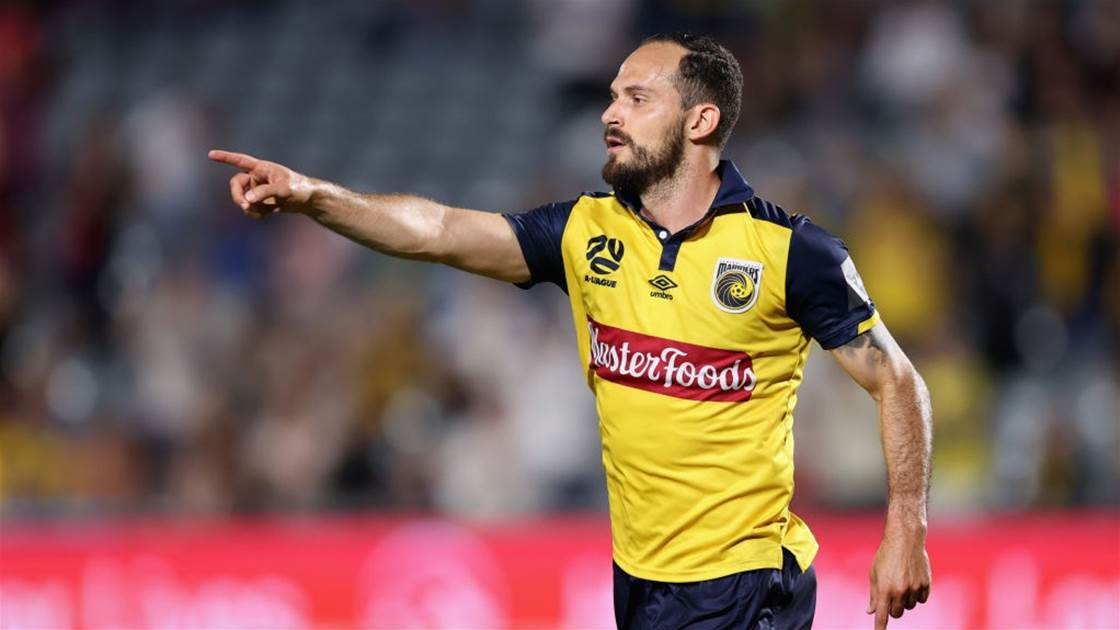 Mariners lock-down international A-League striker after 'a lot of pressure'
