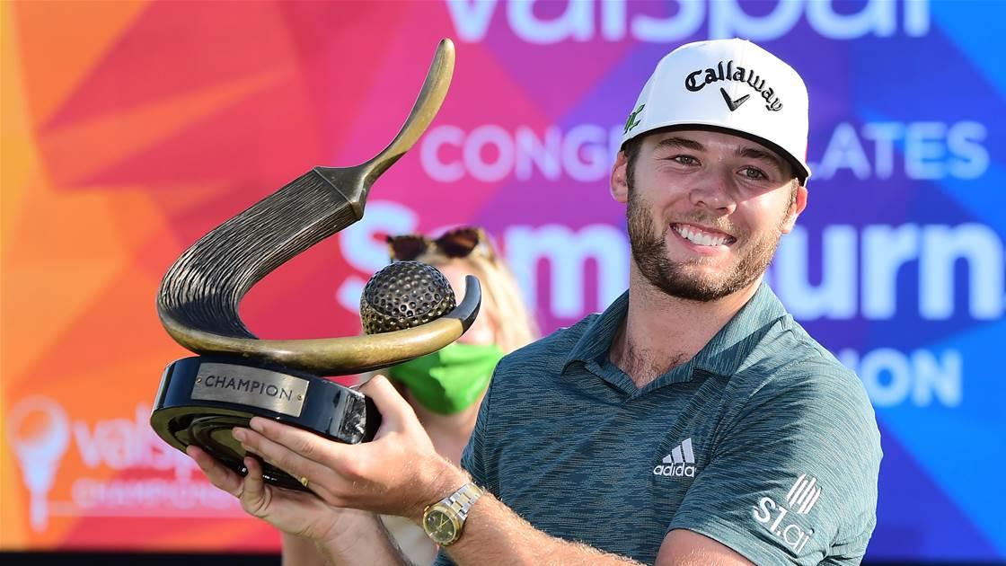 Burns pulls away to seal maiden PGA Tour title