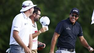 Blast from the past as Mickelson leads Wells Fargo Championship