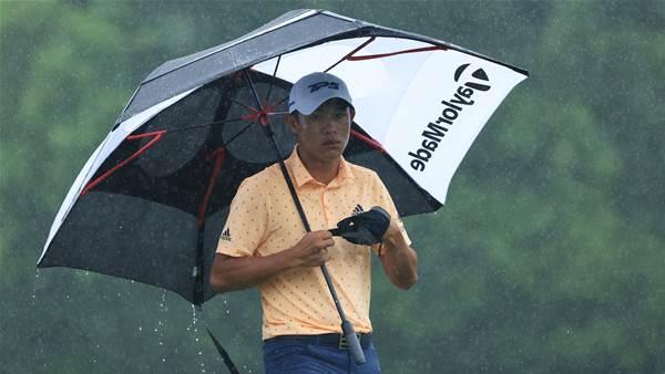 Morikawa leads rain-interrupted Memorial Tournament
