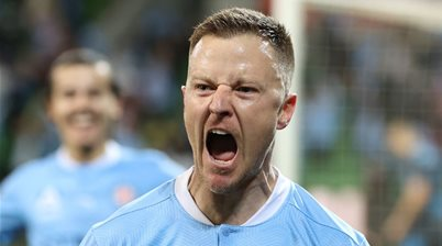 City A-League captain banters media: 'If an AFL player sneezes, it's in the backpage'