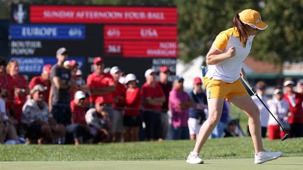 Europe lead U.S before Solheim Cup singles