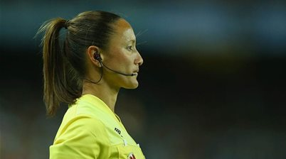 'If you can't see it, you can't be it': Blowing the whistle for female referees
