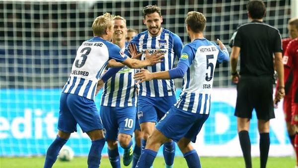 'Unbelievable': Socceroo Leckie makes triumphant Berlin return
