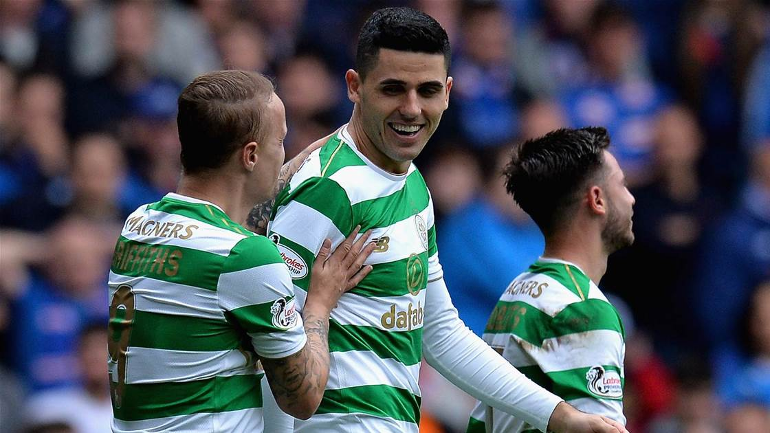 Rogic mobbed at Celtic supporters bar in Sydney