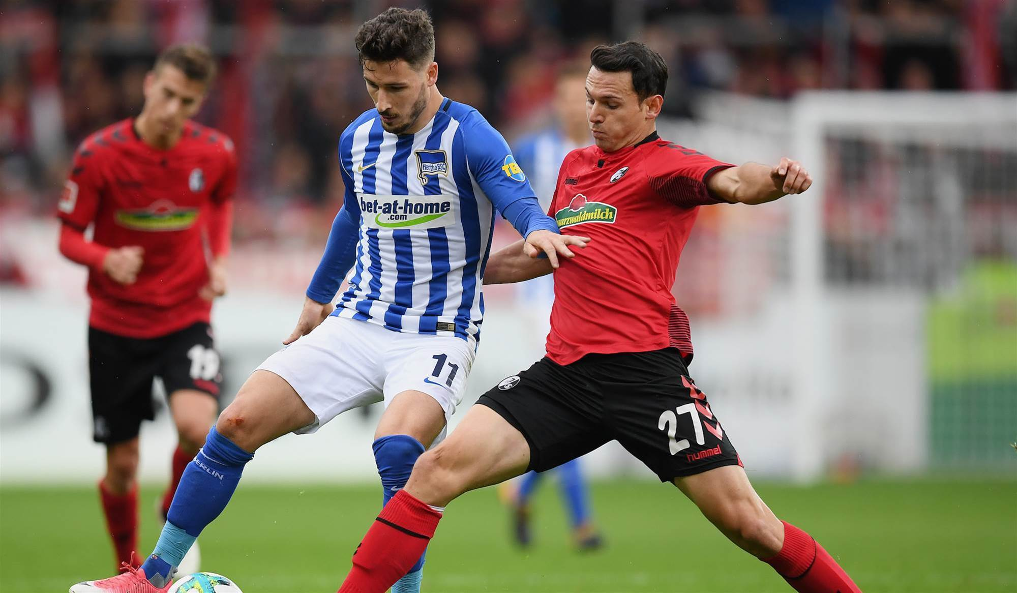 Leckie scores on Hertha return