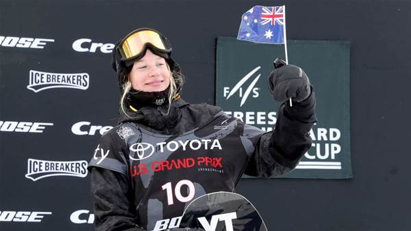 Aussie wins our first ever Snowboard World Cup gold medal