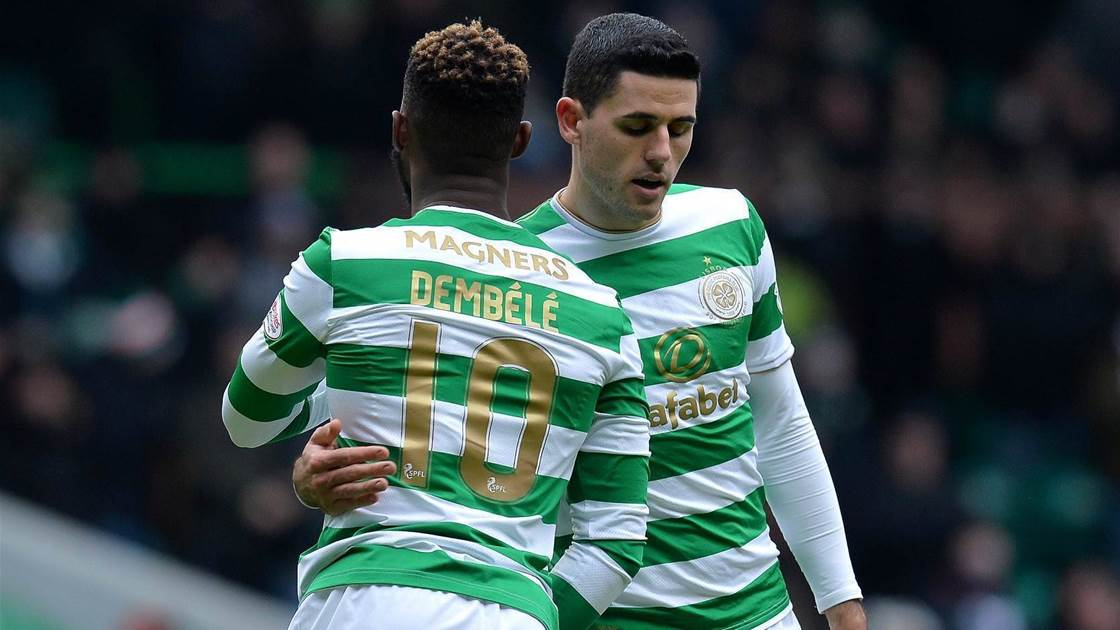 Tom Rogic helps Celtic progress, Awer Mabil's Midtjylland crash out