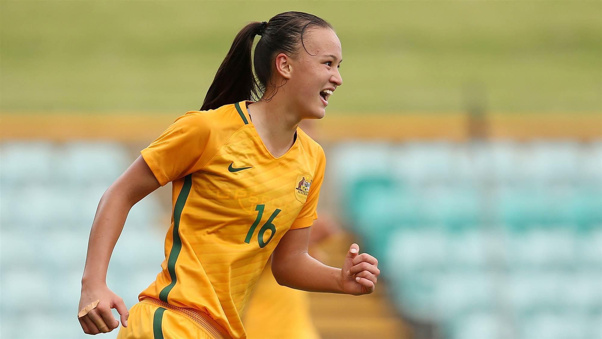 Young Matildas win over defensive Lebanon