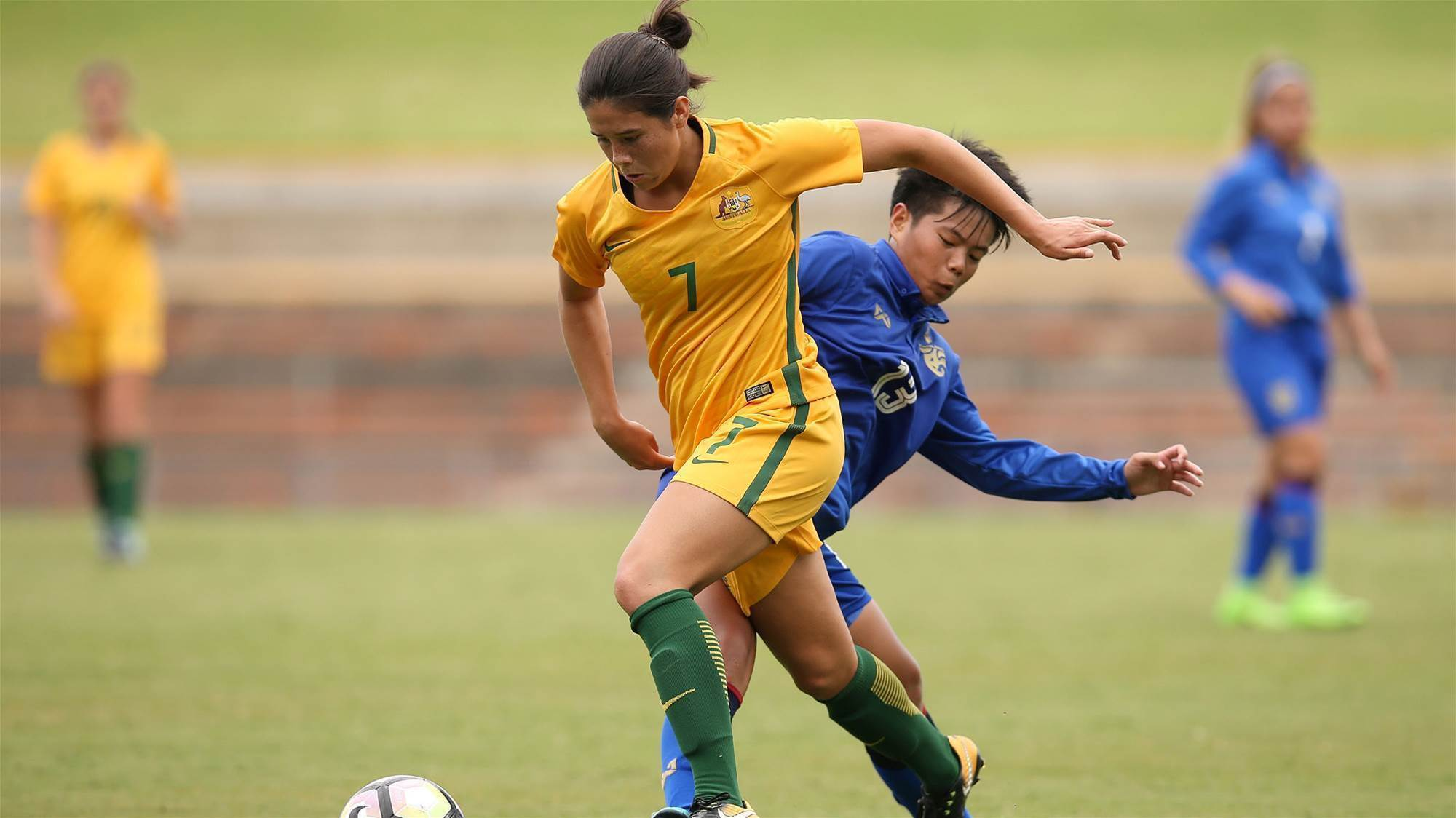 Young Matildas masterclass on Mongolia