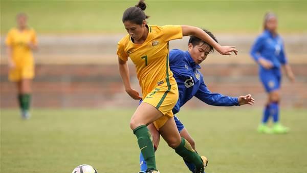 Young Matildas masterclass on Mongolia