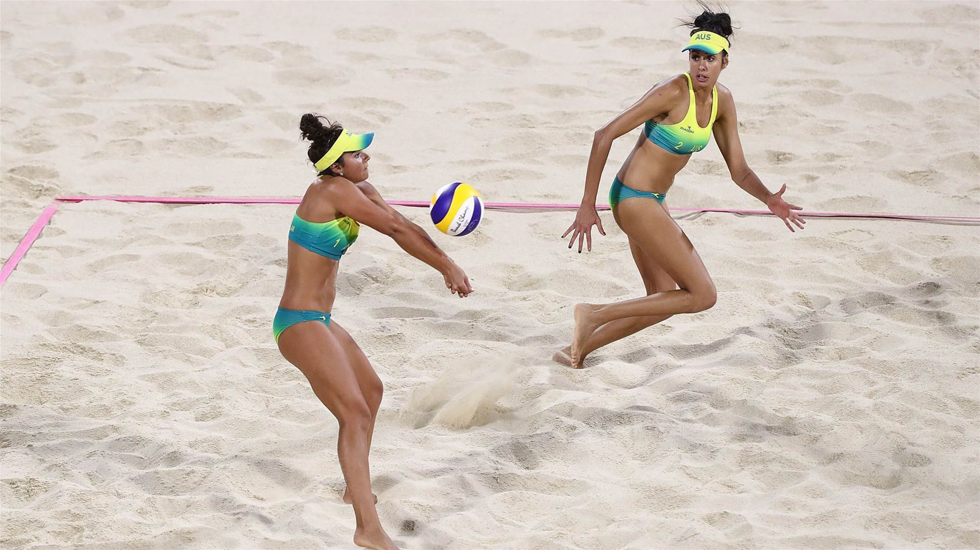 Beach volleyball duo create history