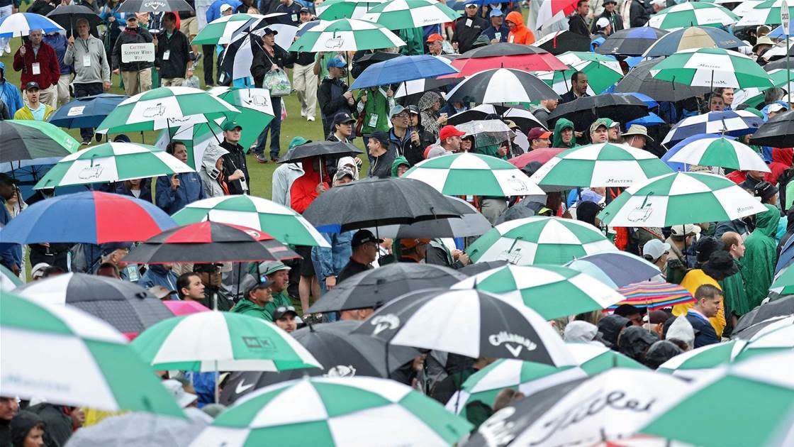 Bad weather threatens Masters practice
