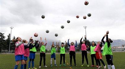 Training resumes as 400,000 women await football's return