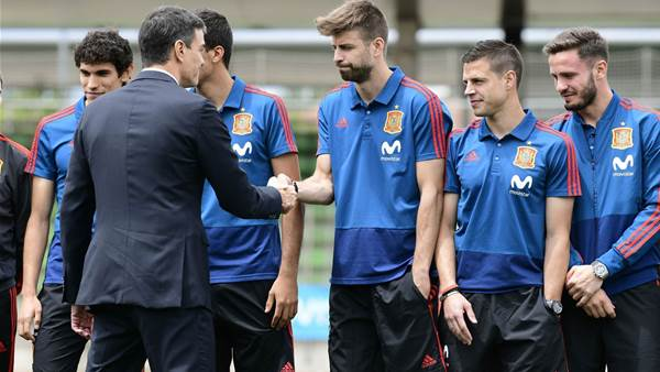 Spanish Prime Minister Sanchez Meets Country's National Team Ahead of 2018 FIFA World Cup