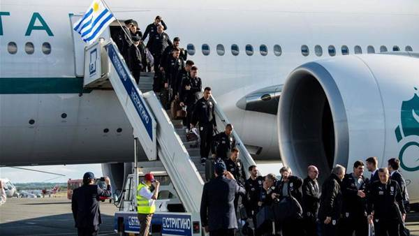 Uruguay Arrive in Russia for 2018 FIFA World Cup