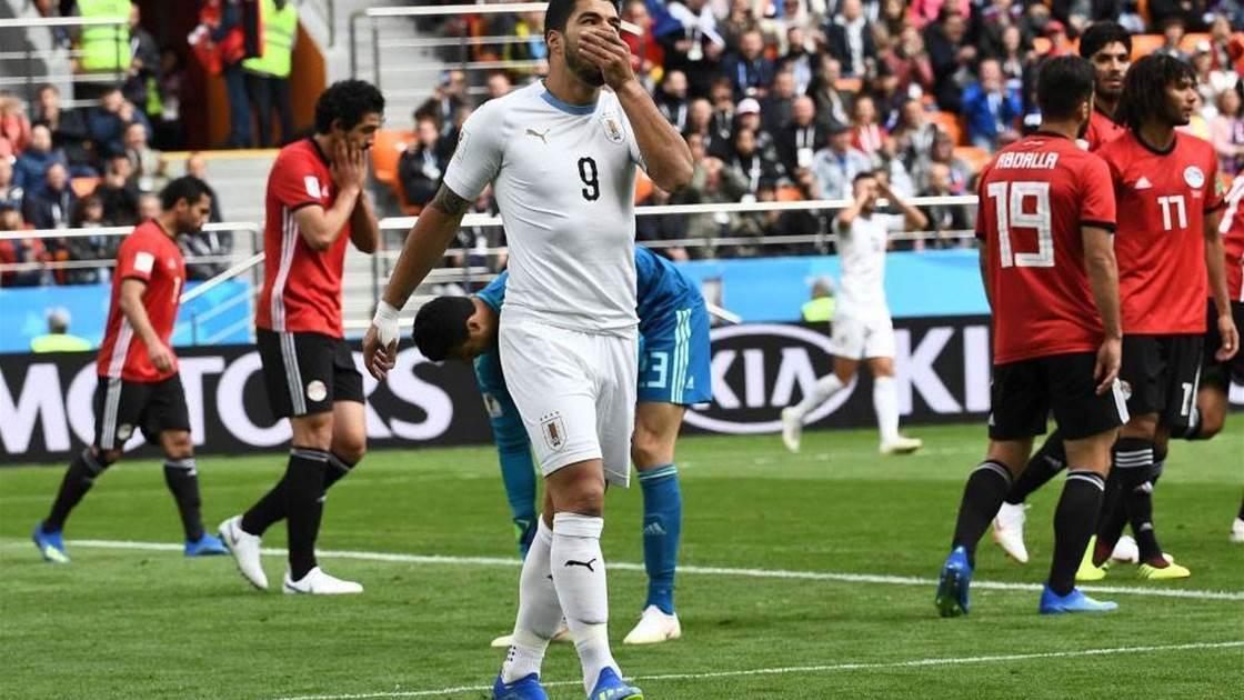 Strikers Suarez, Cavani start for Uruguay