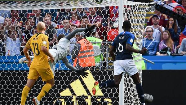 Pogba earns France 2-1 victory over Australia