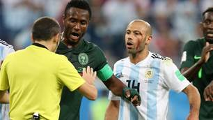 Mikel: Referee failed to award 'clear penalty' against Argentina