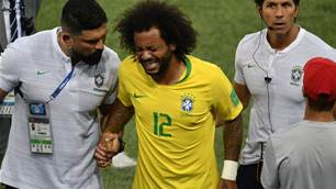 Brazil's Marcelo subbed due to back spasm - Tite