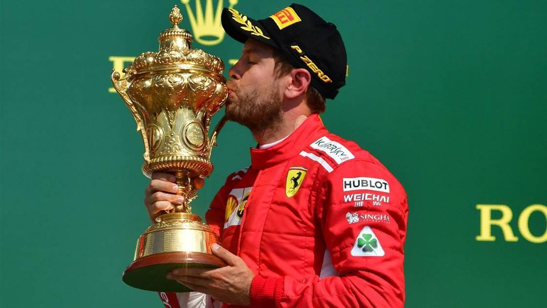 Vettel wins in Britain as Hamilton and Raikkonen clash
