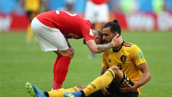 Chadli injured during third place play-off against England