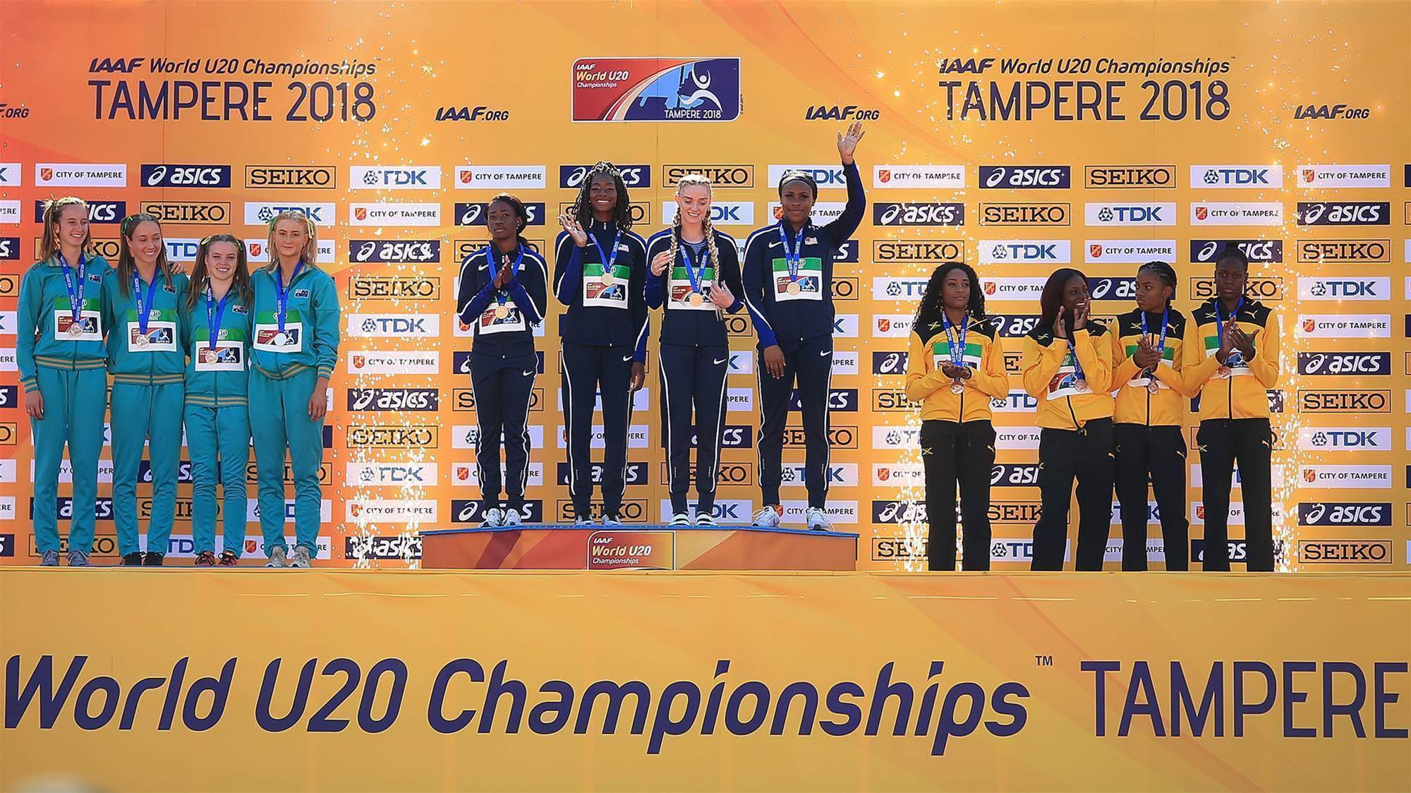 Silver for 4x400 relay team at World U20 Champs